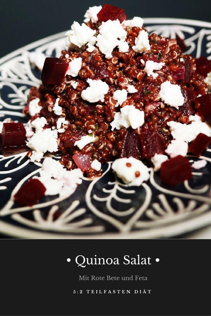 Quinoa-Salat mit Rote Bete und Feta 5:2 Diät Teilfasten Intermittierendes Fasten