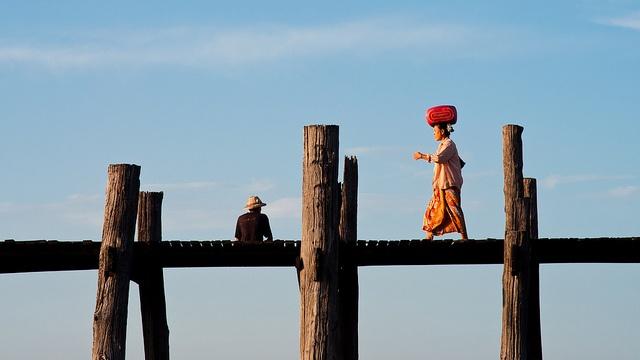 U Bein Bridge, Amarapura, Mandalay Divison