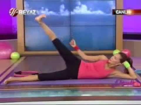 Ebru Şallı Basen Eritme ve Göbek Zayıflama Hareketleri Pilates Egzersizleri Video İzle sağlık videol - YouTube
