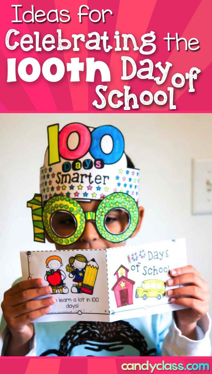 Celebrate the 100th day of school with these fun ideas! These ideas can be used in preschool, kindergarten, first grade, and even 2nd grade. From putting together a fun crown and glasses to a fun writing prompt about their 100th birthday, you will find many activities to make the 100 days of school celebration fantastic! Other ideas include 100 charts, counting bubble gum to 100, incorporating books such as mini-readers, no prep craft ideas, and more!