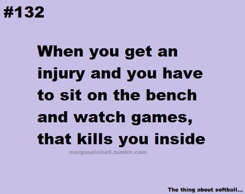 One of the worst feelings! Absolutely horrible! Especially when it effects you when you finally can play:(