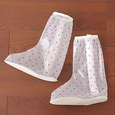 De las mujeres del PVC a prueba de lluvia Zapatos Cubiertas 2016 - $6.99