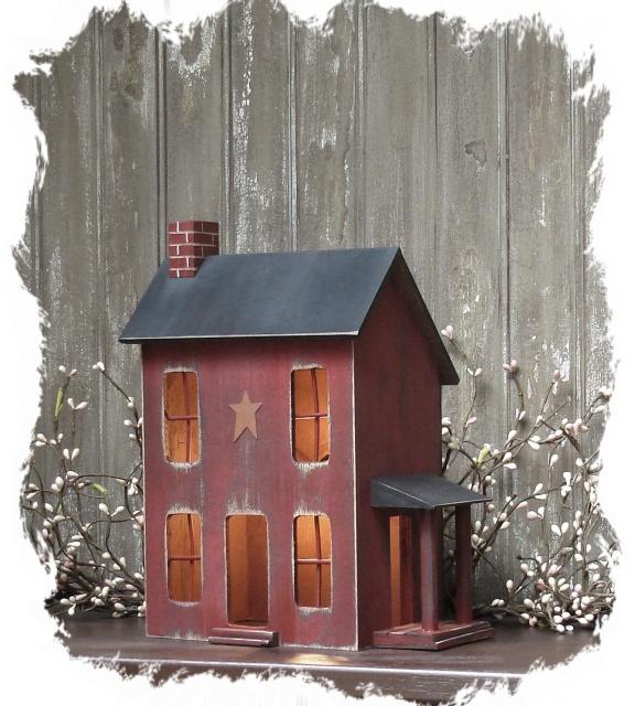 Salt box house primitive decor
