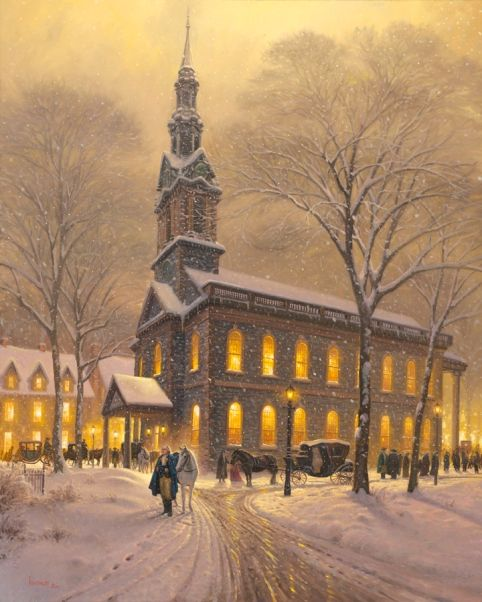 Praying For America by Mark Keathley ~ President George Washington outside St. Paul's Chapel in New York City, NY