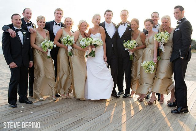 wedding, bridal party, wedding party, beach portraits, beige bridesmaid dresses, black tux, bride and groom, wedding, wedding portrait
