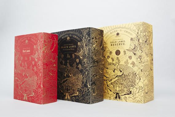 Johnnie Walker Year Of The Dragon Packaging