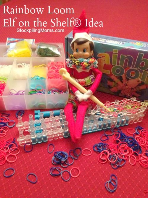 Check out our fun Rainbow Loom Elf on the Shelf Idea! #ElfOnTheShelf #Christmas