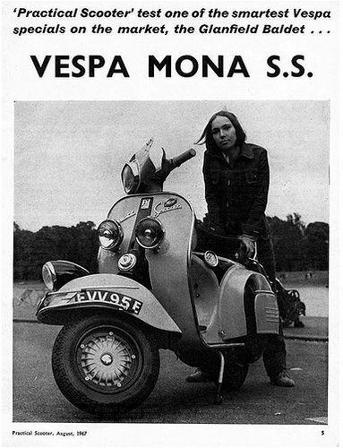 Vespa ss180 MONA SS BALDET by MOTOPUNK restoration, via Flickr