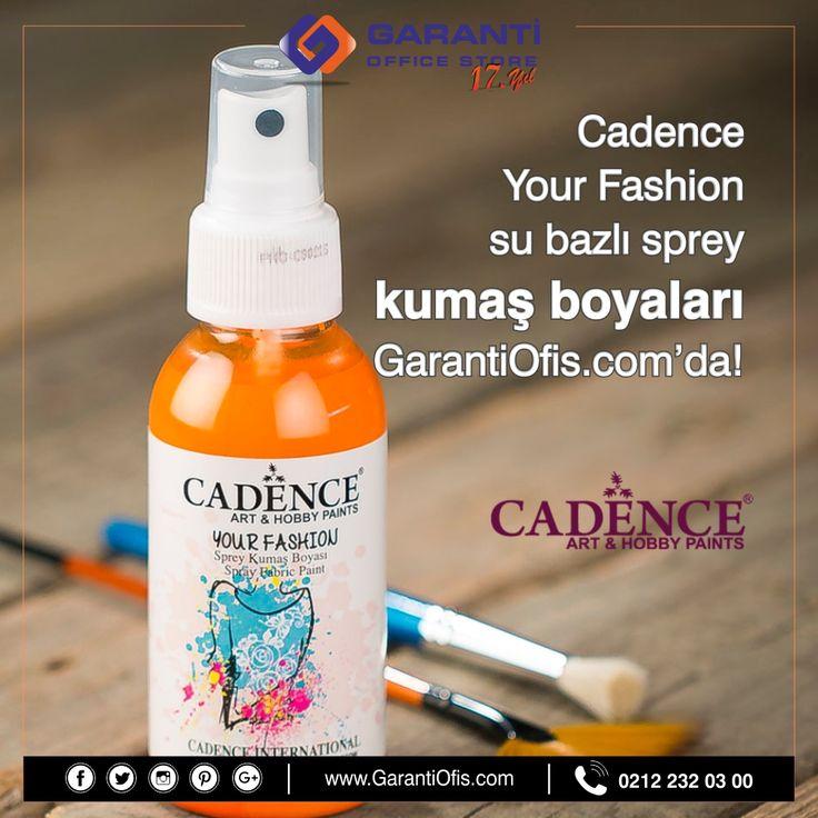 Cadence Your Fashion sprey kumaş boyaları tüm renkleri ile GarantiOfis.com'da!   #cadenceboya #cadenceskumasboya #kumasboyasi #yourfashion #cadenceyourfashion #hobimalzemeleri #garantiofis
