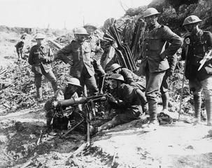 WW1,Somme, Battle of Flers Courcelette, 15-22 Sept 1916. Canadians testing a…