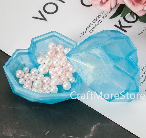 Danolt 38 Unids Love Silicone Mold para resina moldes de resina epoxi en forma de coraz/ón para artesan/ía DIY Decoraci/ón de mesa D/ía de San Valent/ín