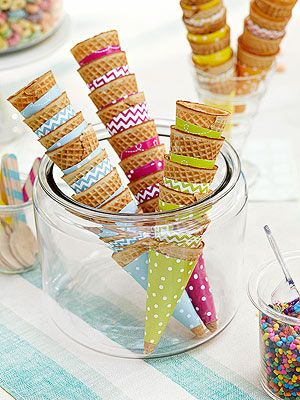Easy Homemade Chocolate Rolo Ice Cream with Free Printable Cone Wrappers. Great for recipe and designs for a party!
