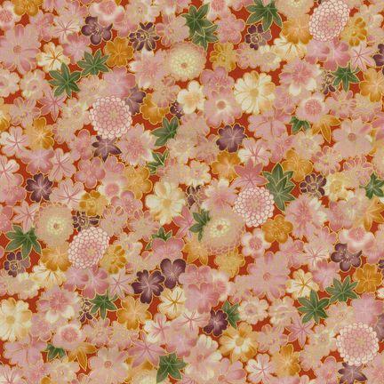 Robert Kaufman Fabrics: HRK-551104L-2 from Hyakkaryouran Sateen