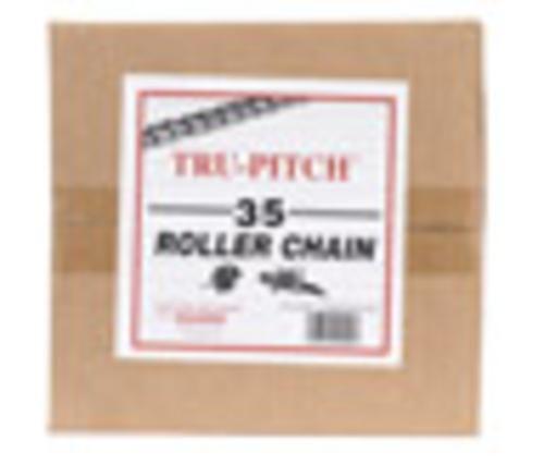 "Tru-Pitch TRC35-MD Roller Chain 3/8"" x 10', Steel"