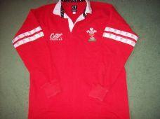 1995 1996 Wales L/a Rugby Union Shirt Adults Large Top Cymru