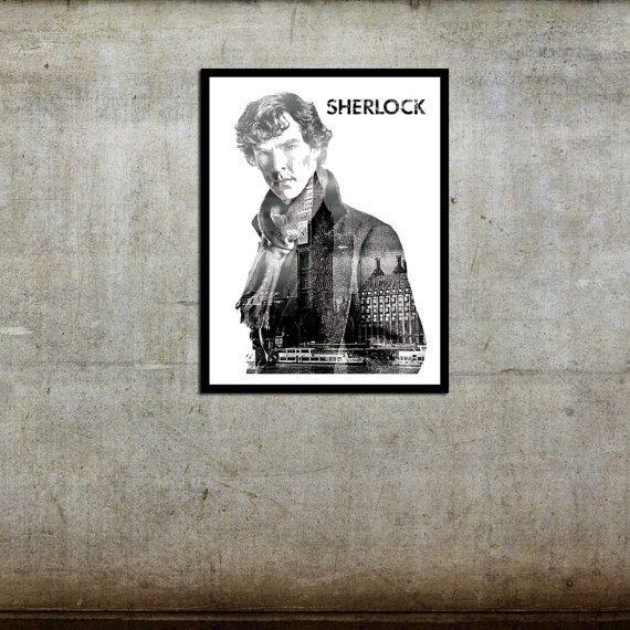 Free Ship Sherlock Benedict Cumberbatch Movie Poster 11 x 17
