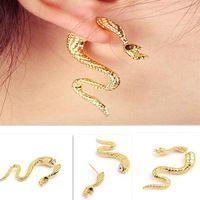 Nuevo 2015 moda gótica punky de oro del Metal serpiente de la tentación Ear