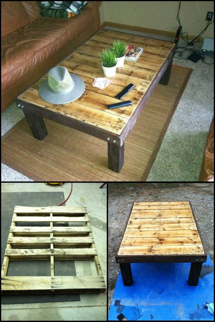1000 ideas about pallet coffee tables on pinterest pallets 1001 pallets and pallet tables. Black Bedroom Furniture Sets. Home Design Ideas
