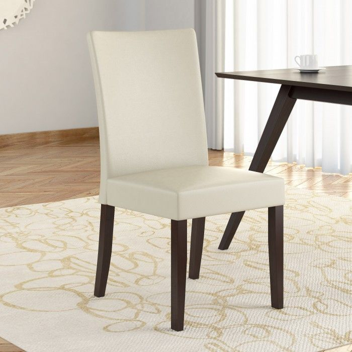 CorLiving Atwood Cream Leatherette Dining Chairs Set