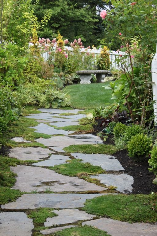 703 best images about stone path ideas on pinterest for Landscaping ideas stone path
