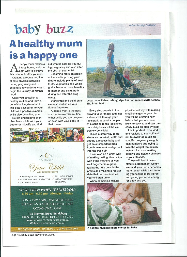 Article for Baby Buzz magazine