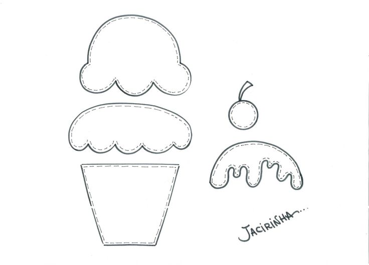 Oficina de Criatividade: Molde presente/Cupcakes