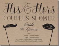 bridal shower couples shower Invitations & Announcements/ vista print