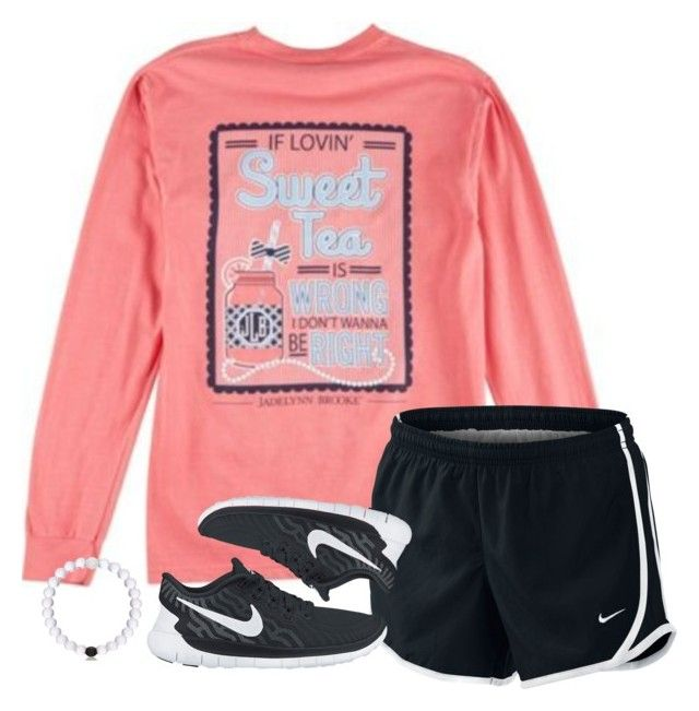 """""""cute casual outfit"""" by lilypackard ❤ liked on Polyvore featuring NIKE, women's clothing, women, female, woman, misses and juniors"""