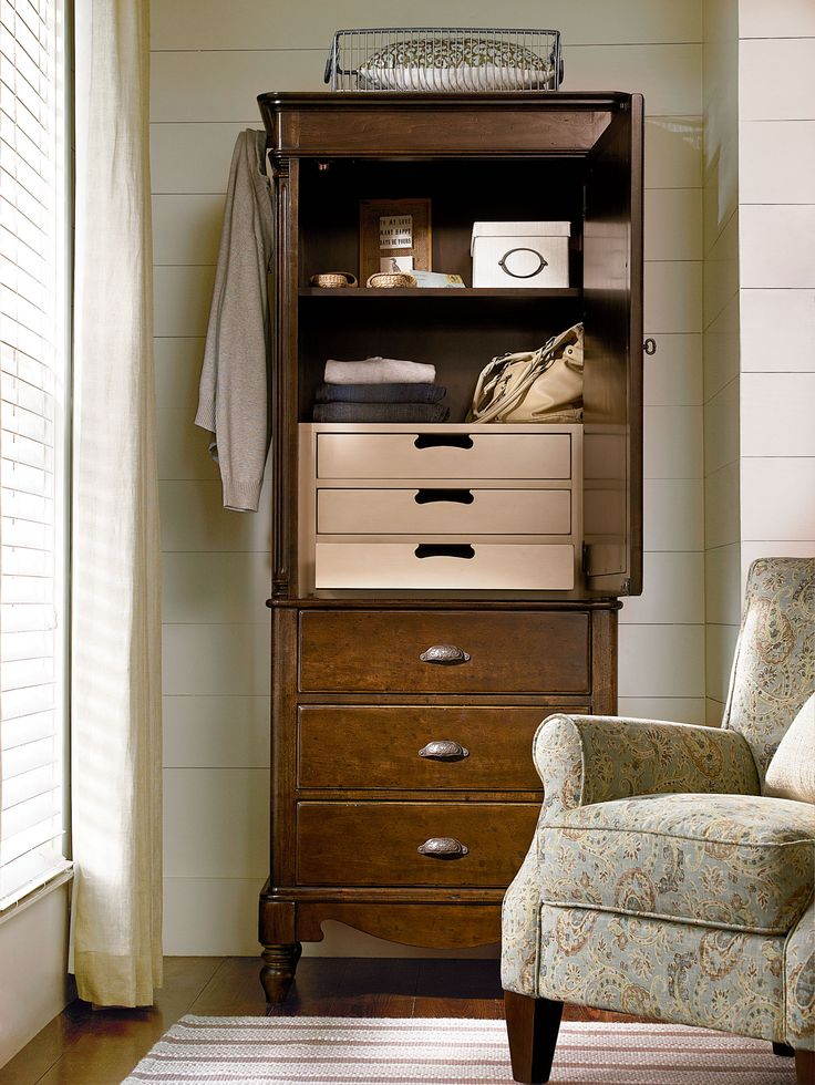 River House Collection  Dressing Armoire With A River Bank Finish  Fashion  Furniture