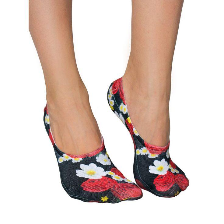 LIVING ROYAL Rosey Dreams Liner Socks   Black (116L)