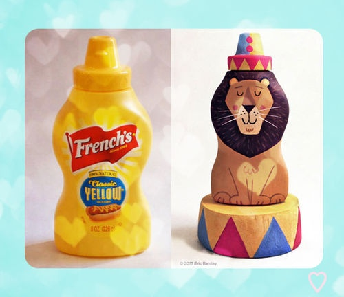 Lion (toy,lion,food,packaging,hand-painting)