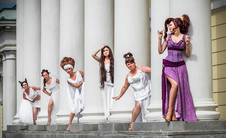 Megara and muses by Usagi-Tsukino-krv.deviantart.com on @DeviantArt