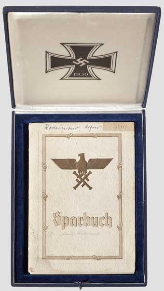 Reichsmarschall Hermann Göring Sparbuch im Etui, Deutsche Bank Berlin a