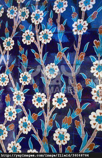 Iznik Ceramic Tiles From Turkey, Montreal Botanical Garden, Quebec, Canada