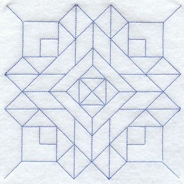 Church Windows Quilting Square (Double Run) design (B2105) from www.Emblibrary.com