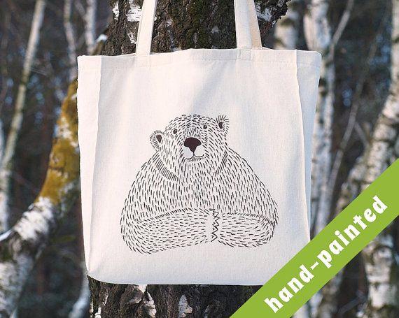 bear mama bear bear tote bag papa bear grizzly bear by tsomoriri