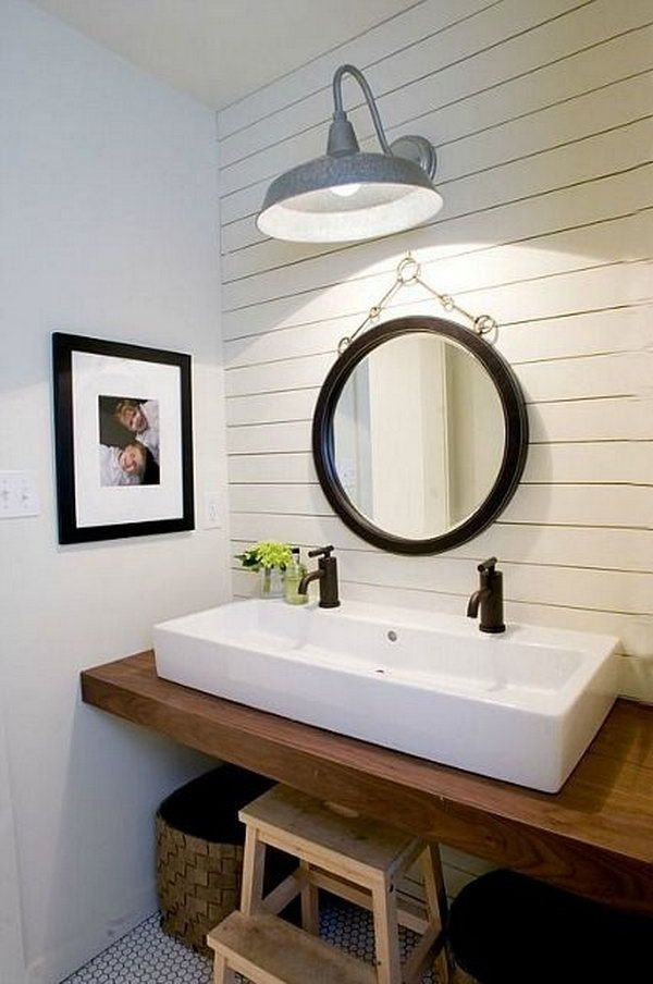 15 industrial vintage bathroom ideas pinterest wood slab sinks rh pinterest nz