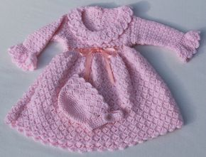 Hey, I found this really awesome Etsy listing at https://www.etsy.com/listing/223523587/crochet-pink-baby-dress-and-hat-set