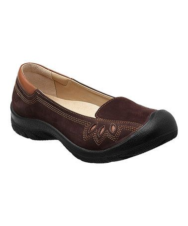 Love this Chocolate Chip Barika Leather Slip-On Shoe - Women by KEEN on #zulily! #zulilyfinds