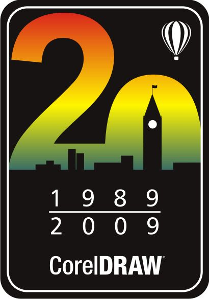 20 th anniversary CorelDRAW logo. I'm not in love with this, but I really like the concept of it.
