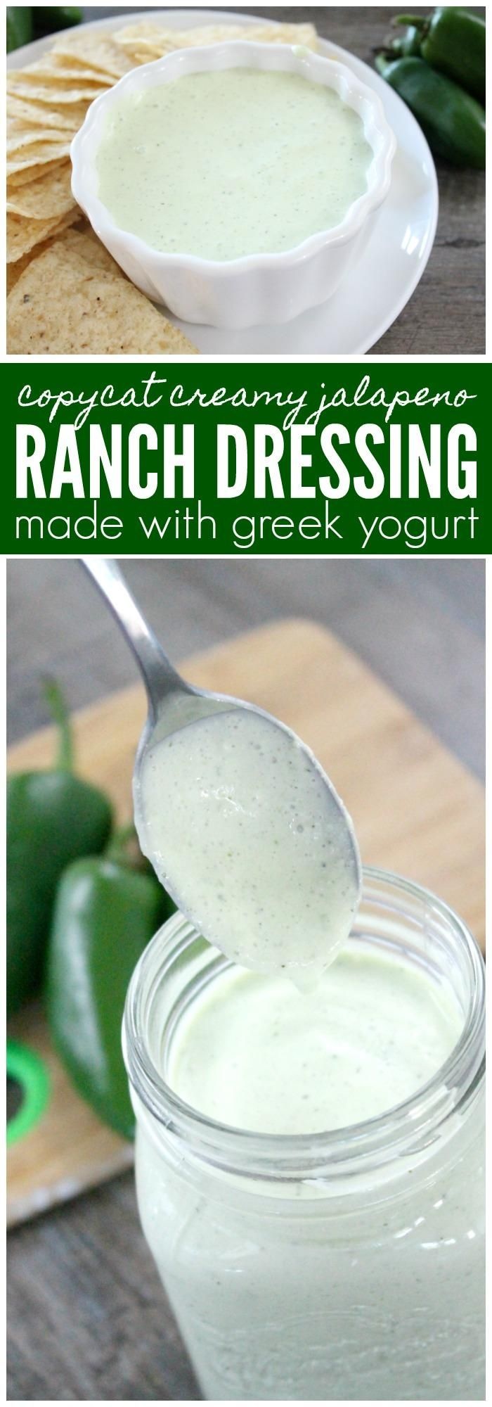 Creamy Jalapeno Ranch Dressing Recipe Made with Greek Yogurt, Keto Friendly & the perfect high protein dip for any party!