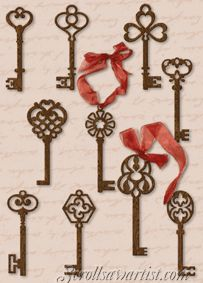 Key Ornaments | ... :: Christmas :: Traditional ornaments :: Antique key ornaments   need to find this