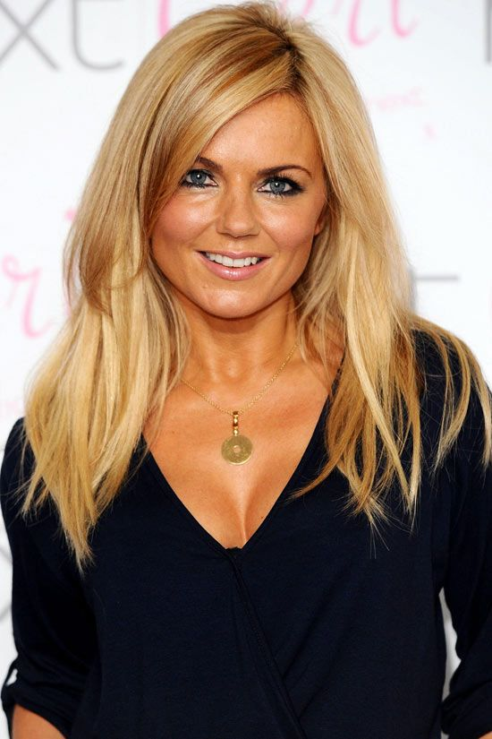 Geri Halliwell. beautiful hair color