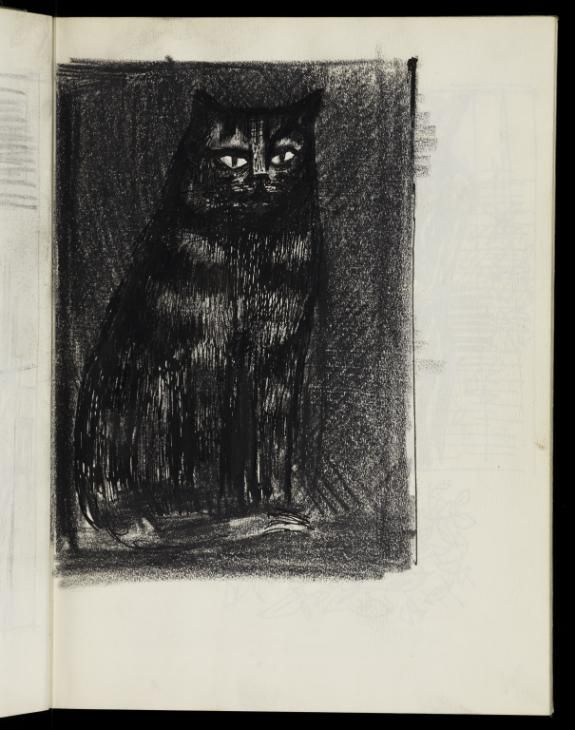 James Boswell, James Boswell 'Sketch of a seated cat', 1953 © The Estate of James Boswell