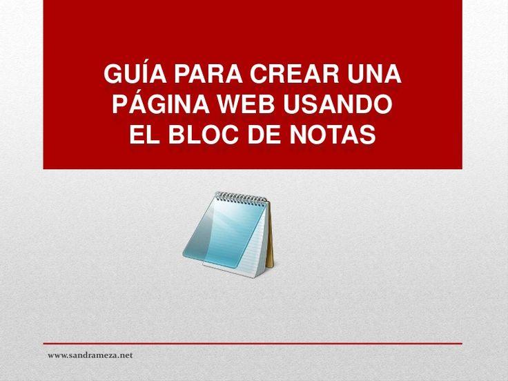 Crear una pagina web con bloc de notas