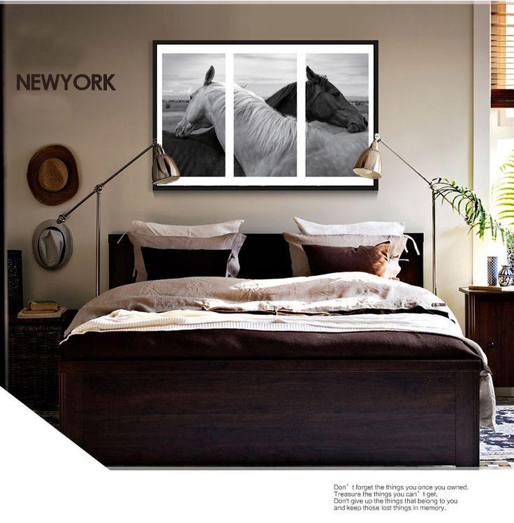 Черный и белый картинки безрамное животных еще жизни-черный и черно-белые фотографии лошадей в любовь домой отпечатки на холсте