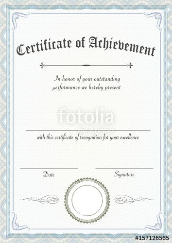 Download The Royalty Free Vector   Blank Achievement Certificates