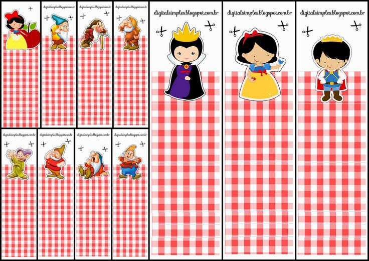 Snow White: Free Printable Original Nuggets or Gum Wrappers.
