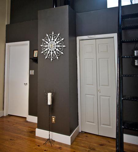 Good questions color suggestions for doors frames for Dark interior paint colors