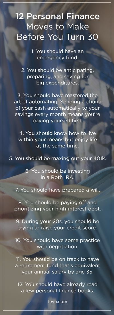 With age comes great responsibilities, and at the top of your list should be taking charge of your money. http://www.levo.com